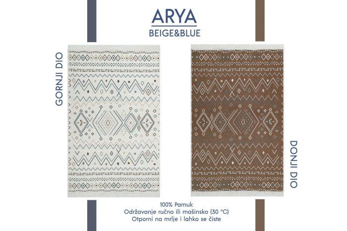 Arya Beige&Blue Tepih